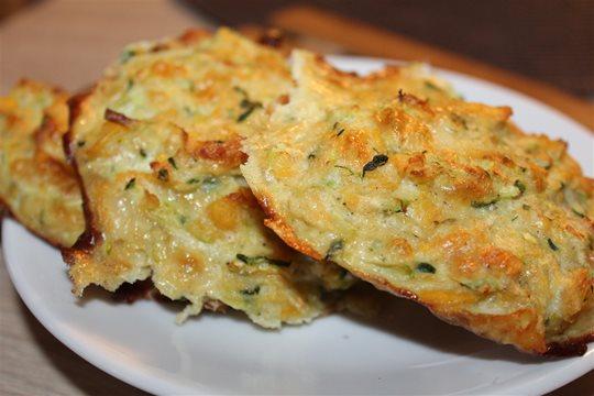 Cuketové kôpky so syrom