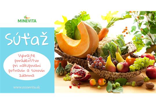 SÚŤAŽ: Vyhrajte poradenstvo pri nakupovaní zdravých potravín a surovín od Minevita!