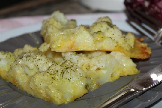 Karfiol zapečený na syre