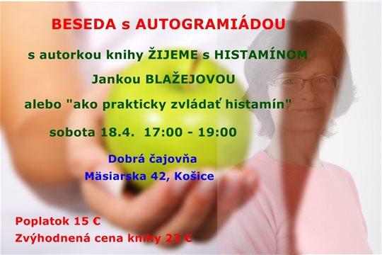 Stretnutie histaminikov Košice, beseda s autogramiádou