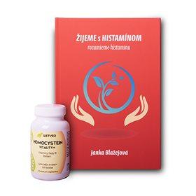Kniha ŽIJEME s HISTAMÍNOM + Homocystein Vitality s Betainem (vitaminy sk. B)
