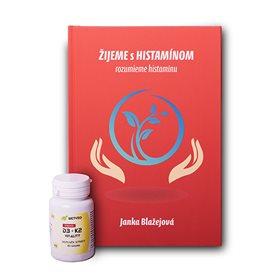 Kniha ŽIJEME s HISTAMÍNOM + Vitamín D3 + K2