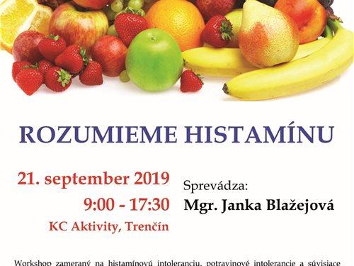 Rozumieme histamínu - workshop Trenčín